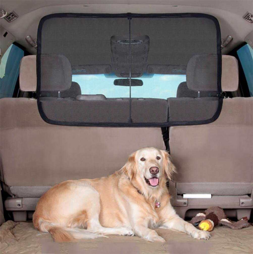 LAMEI Pet Dog Car Net Barrier Backseat Mesh for Vehicle,Keep Pets Off The Front Seat