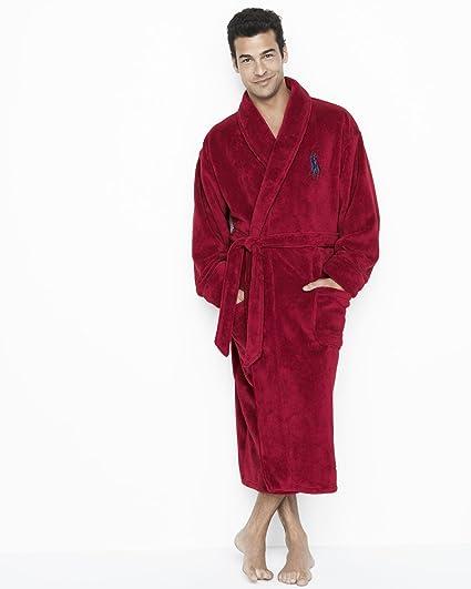 POLO Ralph Lauren Men s Plush Robe Big Pony at Amazon Men s Clothing ... 3bdf6d9a0ec