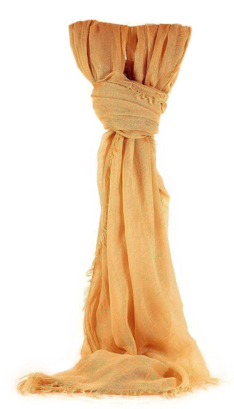 Klassisches Tuch Lucy, ca. 170x85 cm, einfarbiges Damen Tuch, rechteckiges strukturiertes Schultertuch in 11 Varianten, Unicolor, 100% Micromodal, Vintage Damen Mode Made in Italy