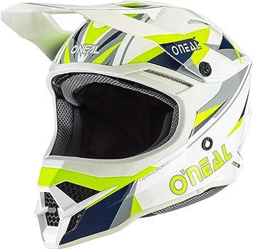 O Neal 3srs Helmet Triz Blue Neon Yellow Größe Xl 61 62 Cm Auto