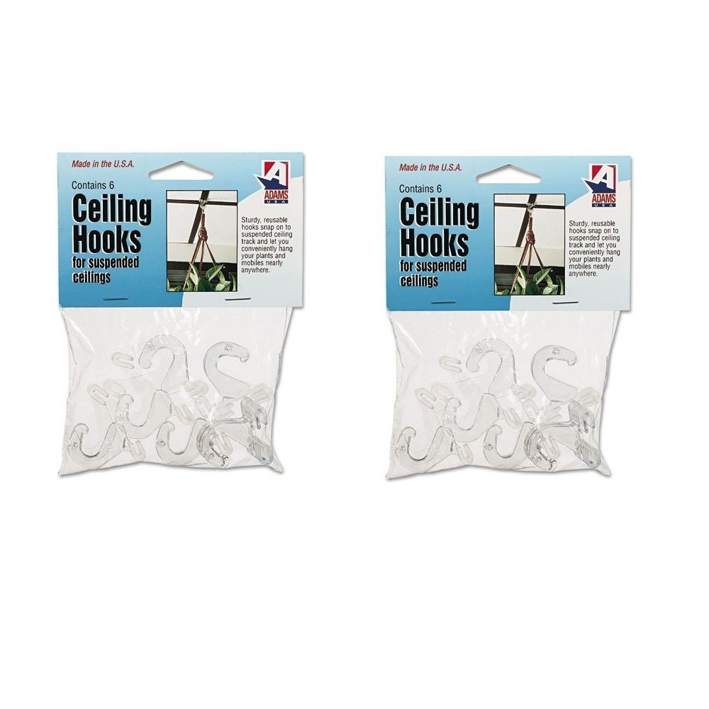 Amazon adams 516 x 34 x 1 38 inches clear plastic ceiling amazon adams 516 x 34 x 1 38 inches clear plastic ceiling hooks 6 per pack adm1900993241 office products dailygadgetfo Choice Image