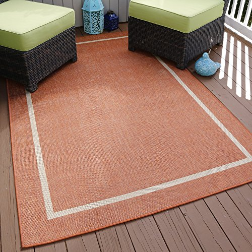 Lavish Home Border Indoor/Outdoor Area Rug, 5' x 7'7