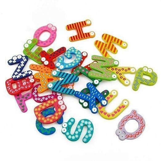 BT Willing imanes de nevera con letras del alfabeto de madera ABC ...