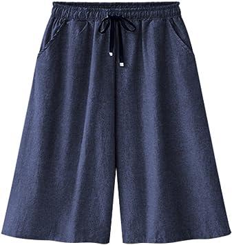 Bermudas para Mujer Pantalones Cortos Baggy Pantalones Talla ...