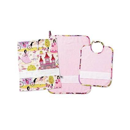 Set guardería personalizado con nombre bordado. 3 piezas color Babero + toalla + saco