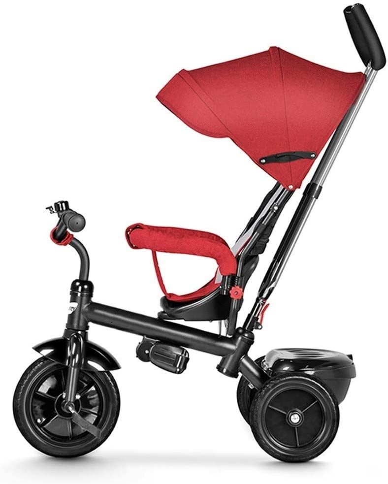 ZQY Manillar de la dirección del Triciclo 4 en 1 de los niños de la azotea del Triciclo de la Bicicleta Carro de bebé de Coches de Juguete de la Carretilla 2-3 años del niño (Color : A)