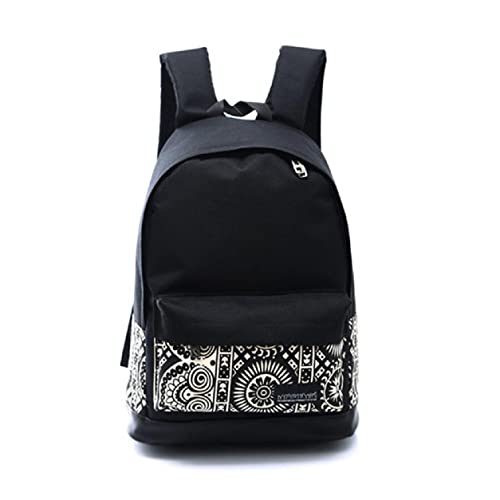 35d3c1e4d5 Amazon.com  Kemilove Unisex Boys Girls Canvas Rucksack Backpack School Book  Shoulder Bag (Black)  Shoes