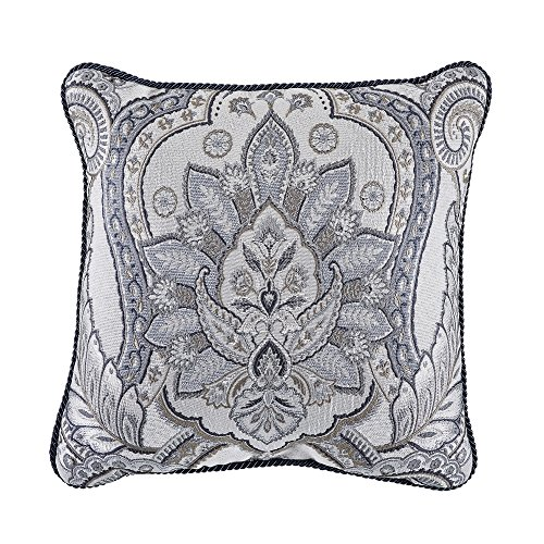 Croscill Seren 18x18 Square Pillow, Blue