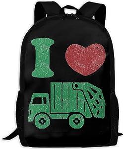 I Love Trucks Interest Print Custom Unique Casual Backpack School Bag Travel Daypack