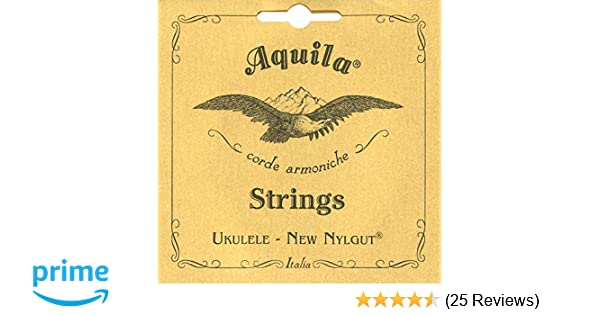Amazon Aquila Ukulele Strings Soprano Low G Nylgut Slwg 5u