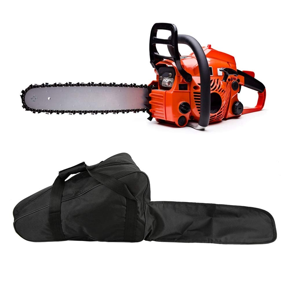 Fdit Portable Chainsaw Carrying Bag Oxford Chain Saw Case Protective Chainsaws Holder Handbag for Men Woodworking Lumberjack 18 inch (Chainsaw Not Included) Black by Fdit