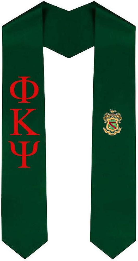 Phi Kappa Psi Greek 2 Tone Lettered Graduation Sash Stole