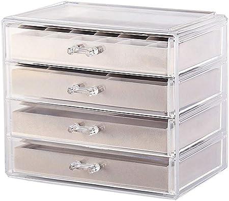 Caja Transparente de plástico para joyero con 5 cajones ...
