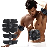 ABS Fitness Muscle Trainer, 2018 EMS Remote Control Abdominal Muscle Trainer Smart Home Exercise Bodybuilding Fitness Electrical Stimulator Pads (3 Pads Set)