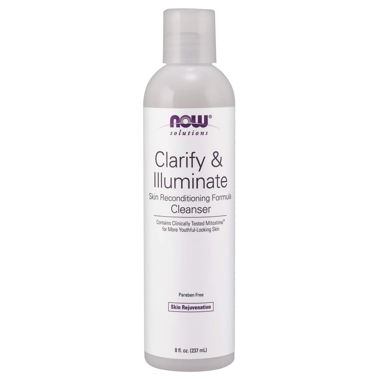 Now Solutions, Clarify and Illuminate Cleanser, Silky Skin Rejuvenating Formula with Mitostime for More Youthful Looking Skin, 8-Ounce