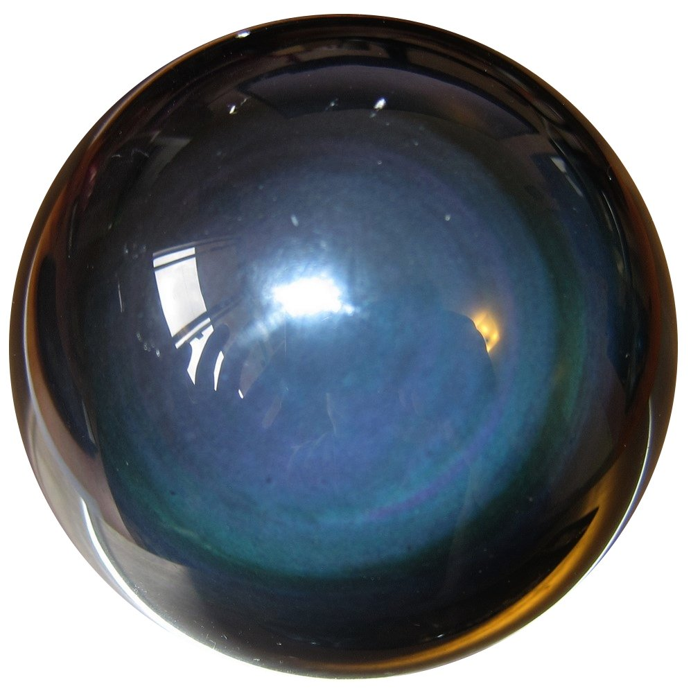 SatinCrystals Obsidian Rainbow Ball Premium Quality Upper Chakras Protective Guardian Double Eye Sphere Healing Stone P01 (2.4 Inches) by SatinCrystals (Image #6)