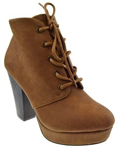 7a63051ce20 BAMBOO Huxley 01 Womens Chunky Heel Ankle Booties Champagne 7