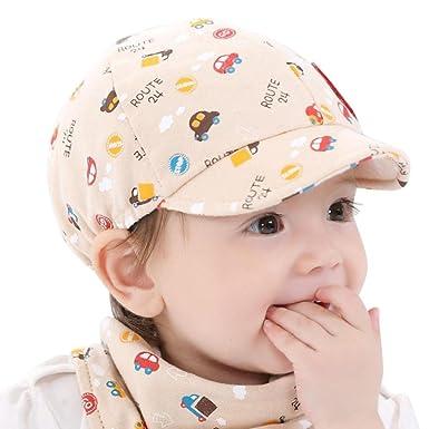 ead8a681bc2 Reaso Casquettes Baseball Bébé Enfant Garçon Fille Enfant Chapeau Petite  Voiture Béret Casquette Bobs Bonnets (