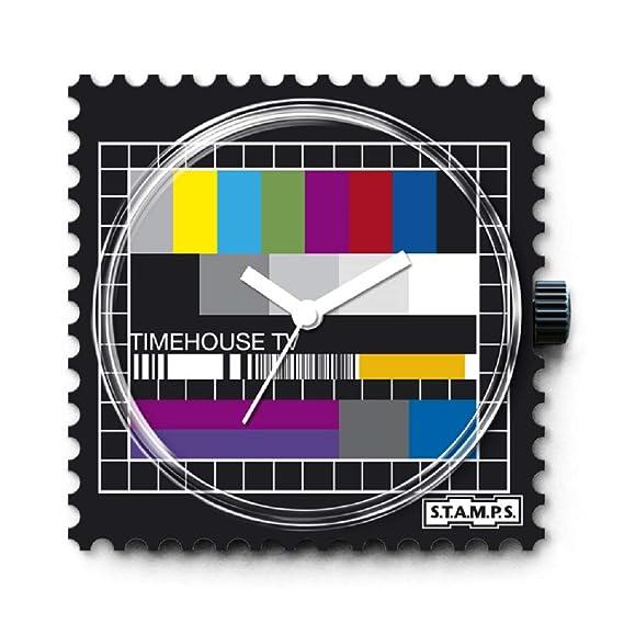 S.T.A.M.P.S. Stamps - Esfera Test Pattern Completo Reloj con pulsera de piel Classic Rojo: Amazon.es: Relojes