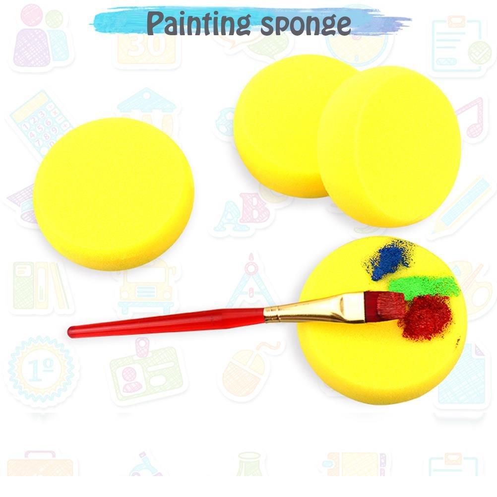 Lwestine Painting Sponges, 2.75'' Round Synthetic Silk Sponges for Painting,Crafts & More! Pack of 25 Sponges by Lwestine (Image #3)