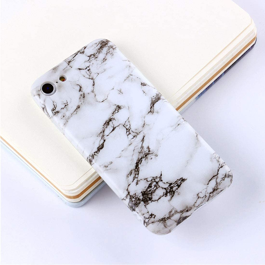DESHENG Smartphone Protective Clips for iPhone 6 Plus & 6s Plus Green Marble Pattern TPU Protective Back Cover Case Phone Bag (Color : Color1)