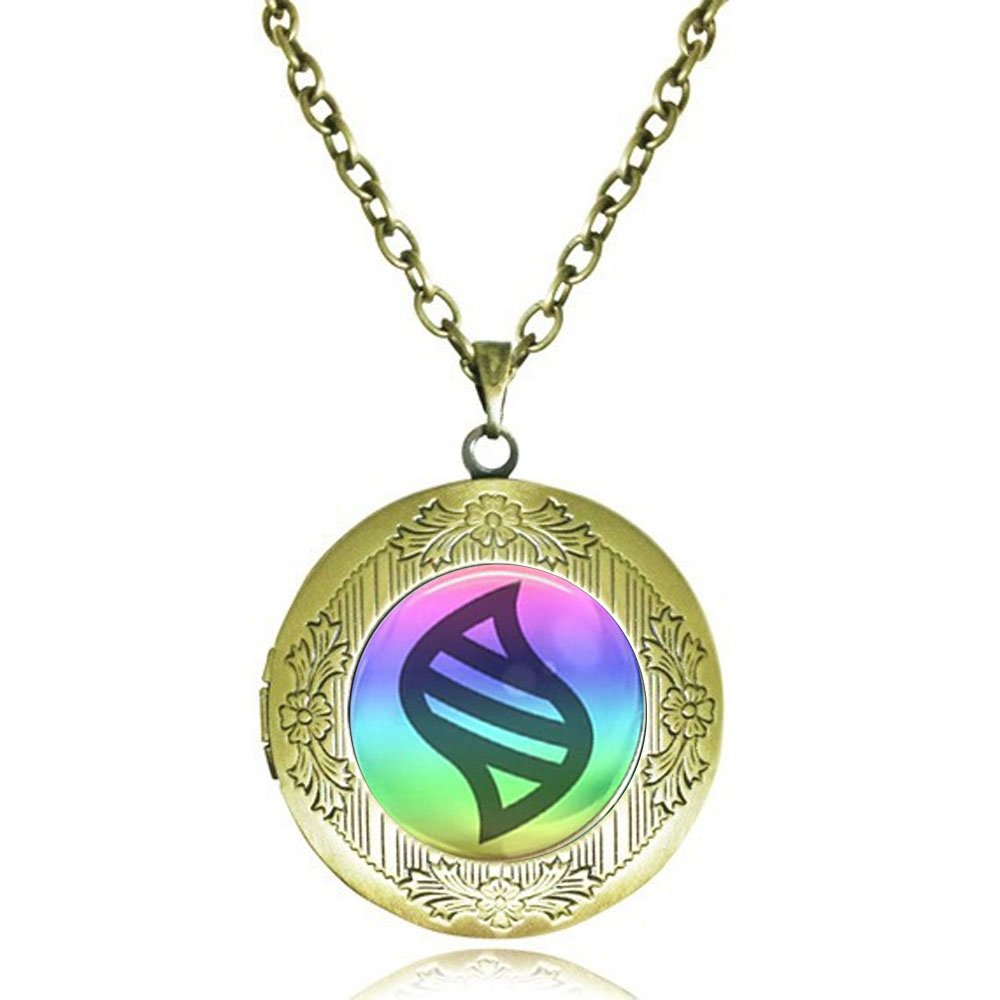 calhepco Pikachu Pokemon Mega Stone Chain Locket Necklace Game Fashion Charm Can Insert Photo