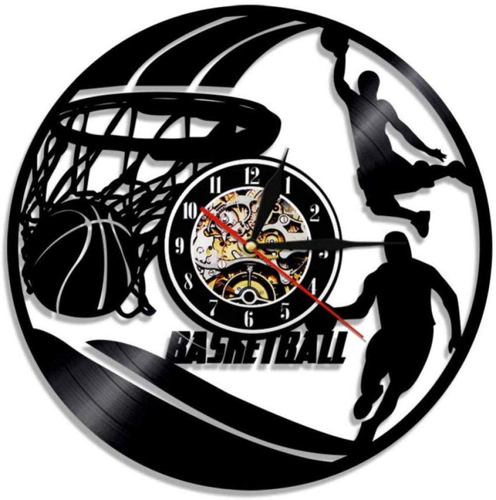 ClockHM Reloj de Pared de Baloncesto Jugadores de Baloncesto ...