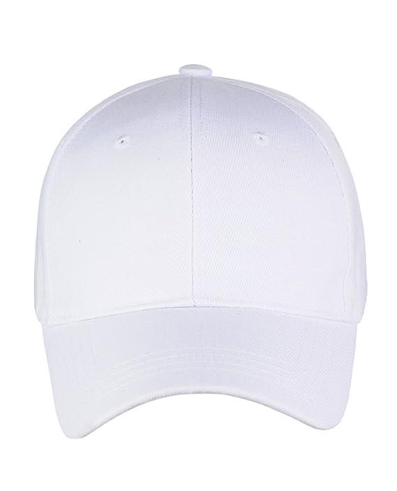 Nyfashion101 (TM) Men s Adjustable Plain Velcro Baseball Cap VEL100-White   Amazon.in  Clothing   Accessories 88c61e57d1bf