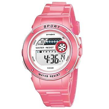 Digital deportes relojes, los niños Niños Estudiante impermeable Deporte Reloj con alarma Cronómetro, LED