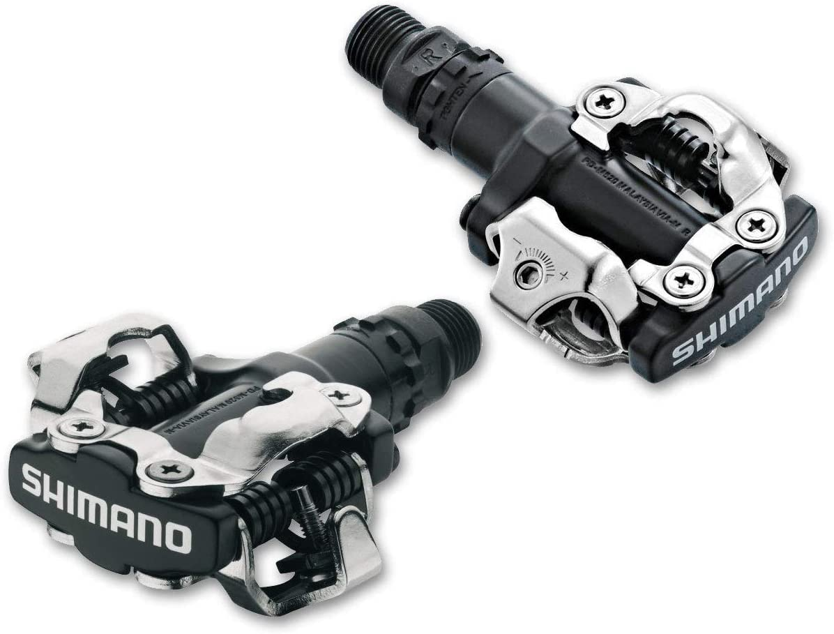 SHIMANO PD-M520 SPD Clipless MTB Pedals with Cleats Silver Pedals