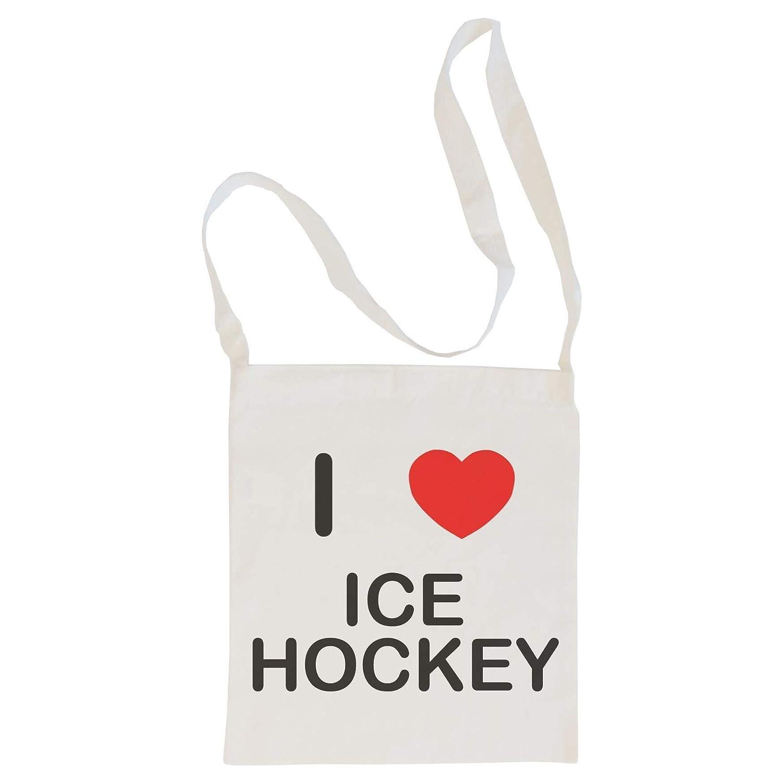 Cotton Maxi Shopping Bag I Love Ice Hockey