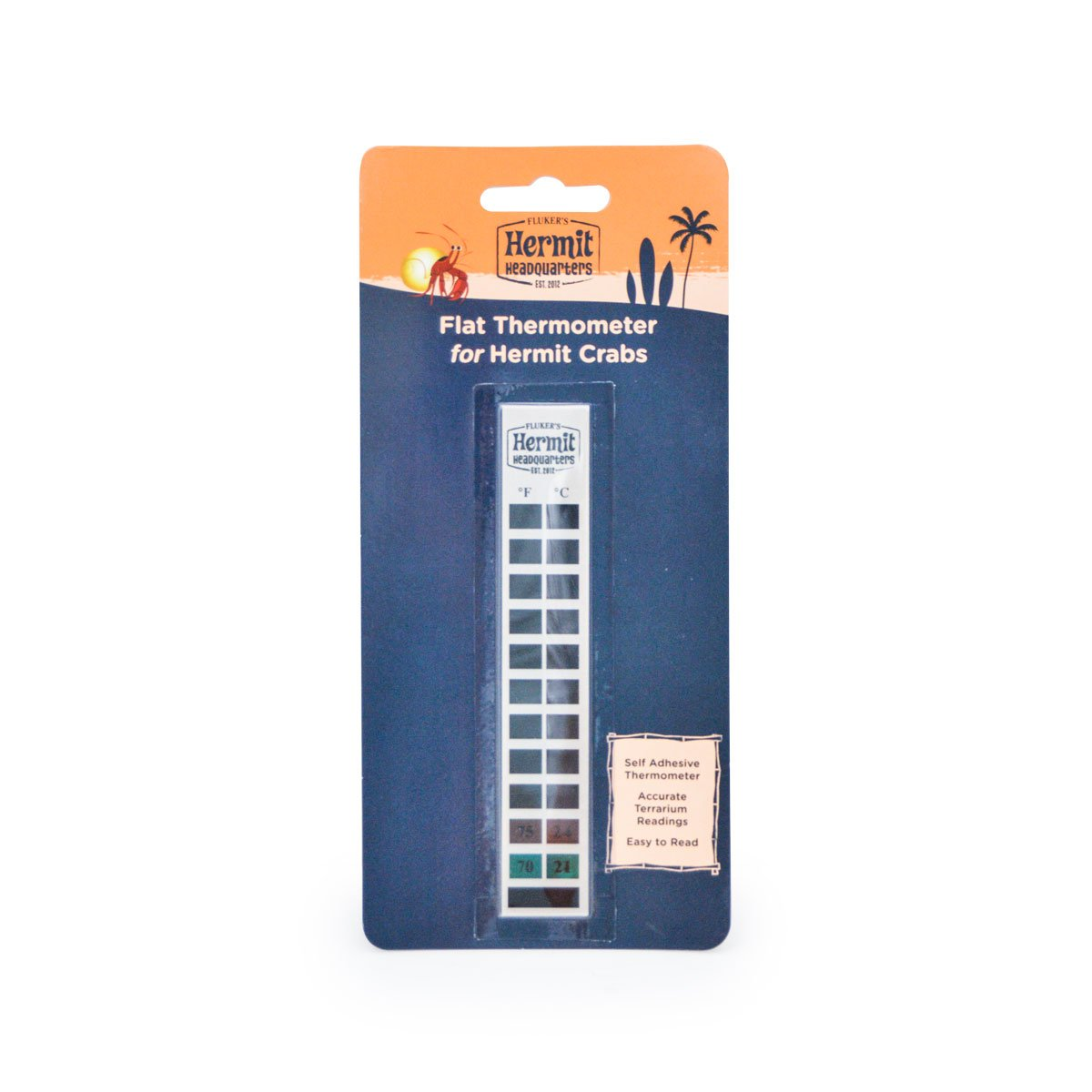 Flukers Economy Flat Thermometer for Hermit Crabs