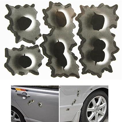 Agujeros de bala falsos CarCare Funny Car Casco Pegatinas Adhesivos Emblema Símbolo para Toyota BMW VW