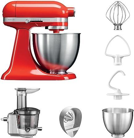 KitchenAid Robot de cocina fop Conjunto   Mini 5, ksm3311 X E Licuadora del paquete incluye Licuadora vorsatz, Exprimidor y accesorios estándar Hot Sauce: Amazon.es: Hogar