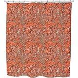 Uneekee Oriental Fantasies Shower Curtain: Large Waterproof Luxurious Bathroom Design Woven Fabric