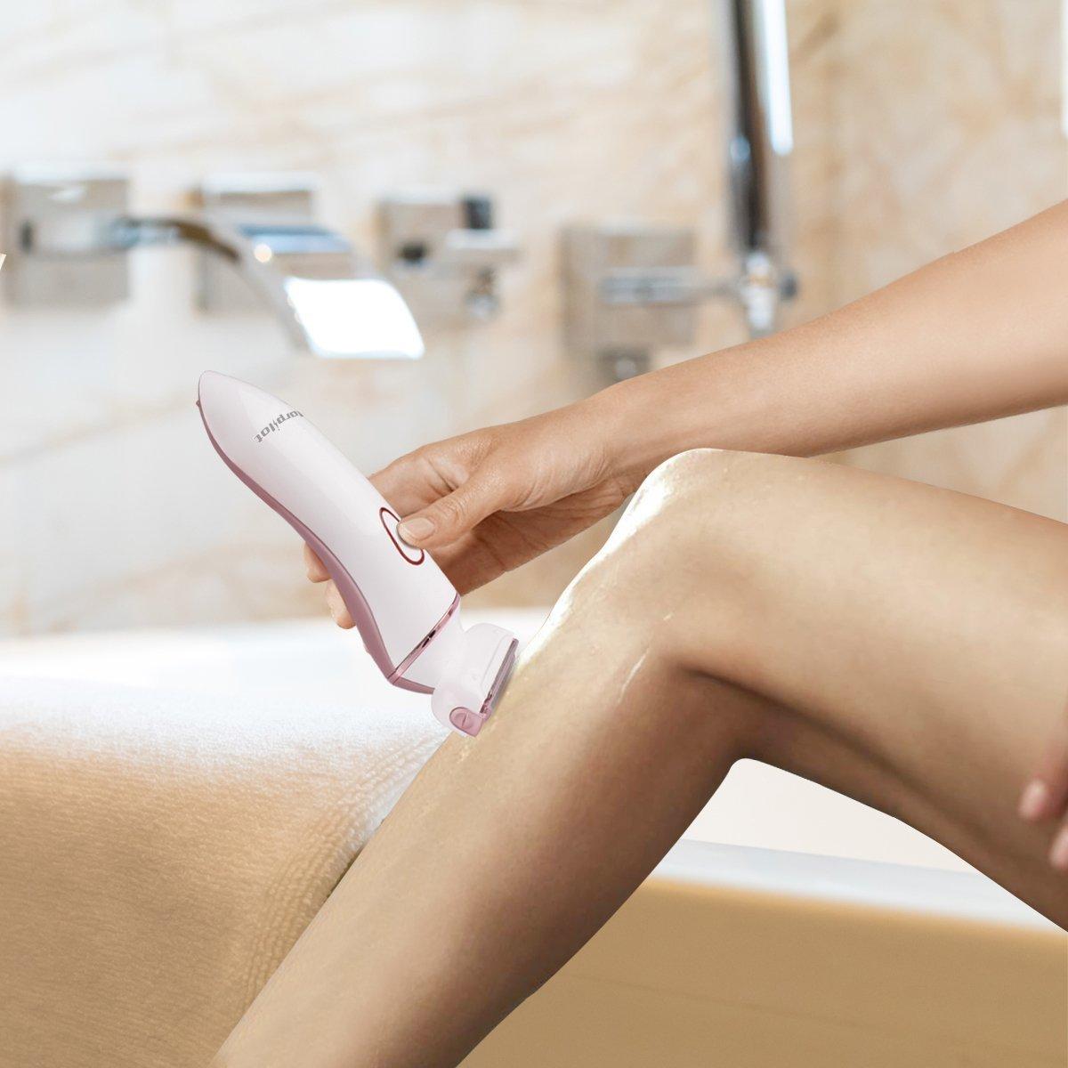 Ladies Electric Epilator, Women Recahrgeable Epilator - Morpilot Hair Remove Shaver (4 in 1)