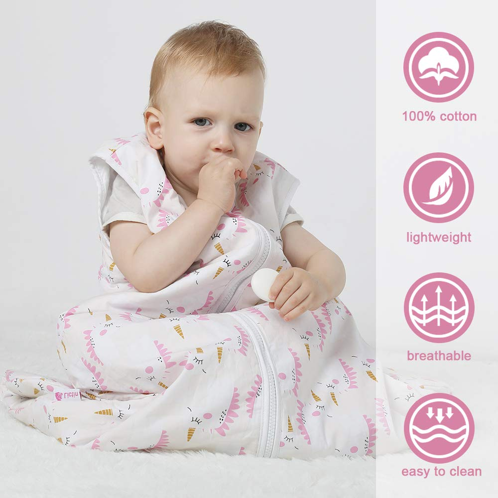 Lictin Baby Sleeping Bag for Winter 2.5 Tog Baby Wearable Blanket Sleeping Sack Baby Swaddle Blanket Sack with Adjustable Length 70-90cm for Infant Toddler 3 to 18 months