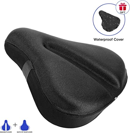 Cushion Seat Cover Bicycle Waterproof Gel Extra Soft Bike Ergonomic Design