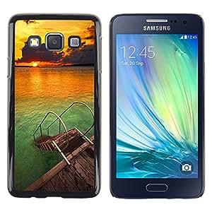 TopCaseStore / la caja del caucho duro de la cubierta de protección de la piel - Beach Nature Sky Sun Summer - Samsung Galaxy A3 SM-A300