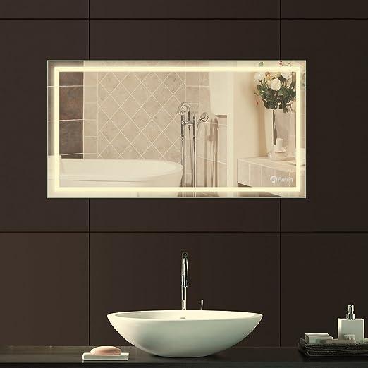 Anten® 80 x 60cm 18W Specchio Luce LED con Illuminazione ...
