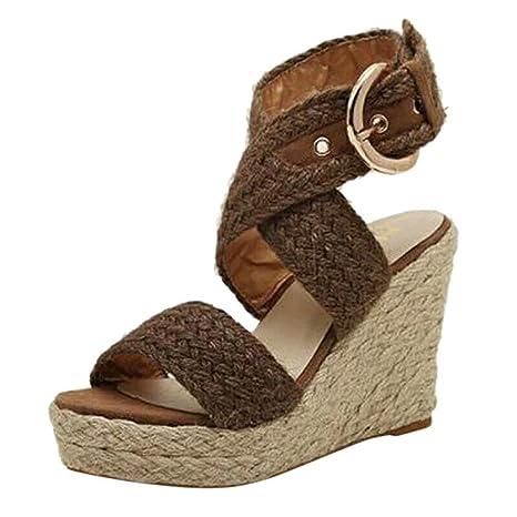 7b18da47f2e Amazon.com: CCOOfhhc Women's Espadrilles Sandals Shoes Summer ...