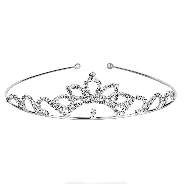 OUFO Crystal Rhinestones Bridal Tiara Princess Hair Jewelry Pageant Crown