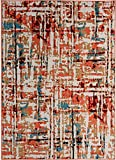 Antep Rugs 777 Pastel Collection Contemporary Polypropylene Indoor Area Rug (Multicolor, 5' x 7')