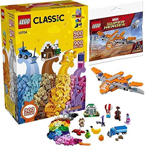 LEGO Super Ship Avengers Guardians Brick Set Bundled with + Bundled with Classic Creative Building Mega Big Box Set 10704