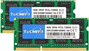 TECMIYO 16GB Kit (2x8GB) DDR3L-1600 SODIMM (PC3-12800S), DDR3 RAM 16GB Laptop Memory Ram-Green
