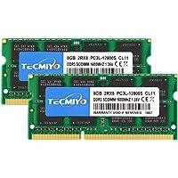 TECMIYO 8GB DDR3L-1600 SODIMM (PC3-12800S), 16GB Kit (2x8GB) DDR3 RAM 16GB Laptop Notebook Computer Memory Ram Module…