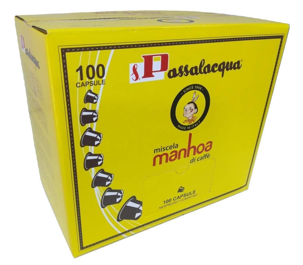 CAFÉ PASSALACQUA MANHOA - GUSTO INTENSO - Box 100 CÁPSULAS ...