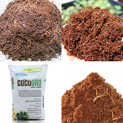 VARIOUS AMOUNT COCOGRO COCO COIR FIBER ORGANIC SOILLESS GROW MEDIA + GLOVES - 0.5 Liter / Quart Bag Cocogro Coir Fiber