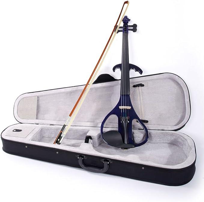 2019 - Estuche para violín eléctrico (tamaño 4/4), color morado: Amazon.es: Instrumentos musicales