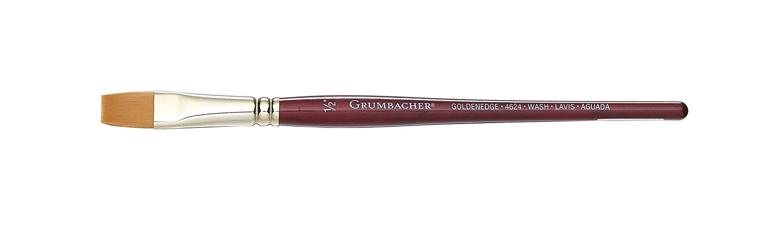 Grumbacher Goldenedge Toray Round Watercolor Brush Synthetic Bristles Size 3